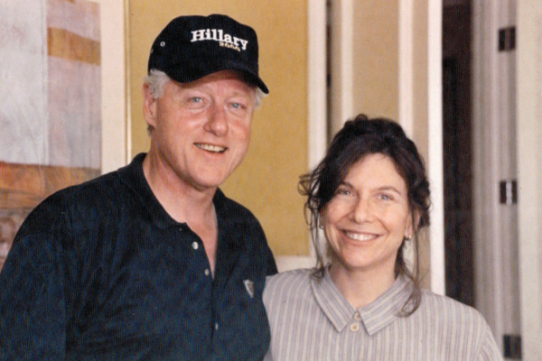 Cathee Weiss with Bill Clinton